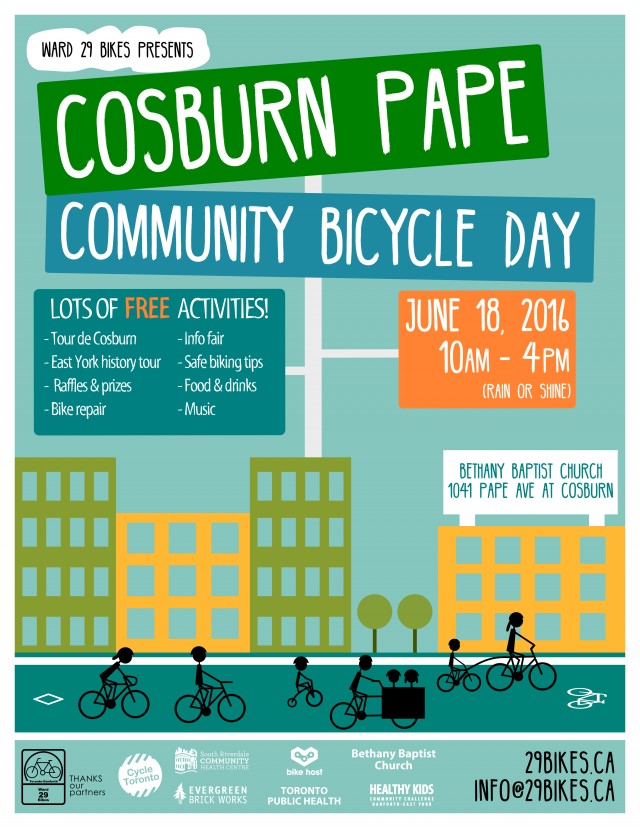 Cosburn Pape Community Bicycle Day poster