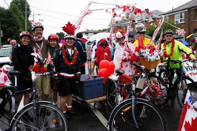 Ward 29 Bikes and friends in the Canada Day Parade